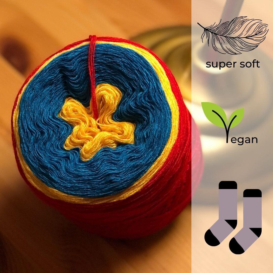 Woolpedia® Socks Rot-Gelb-Lagune - modal sock yarn