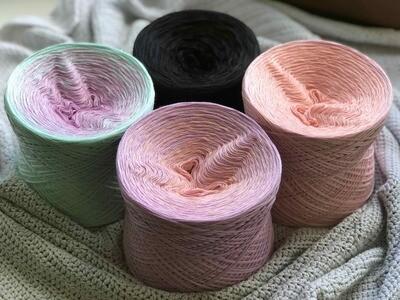Woolpedia® Colors Blocks - Mandelbaum - 5000m yarn kit (cotton mix)