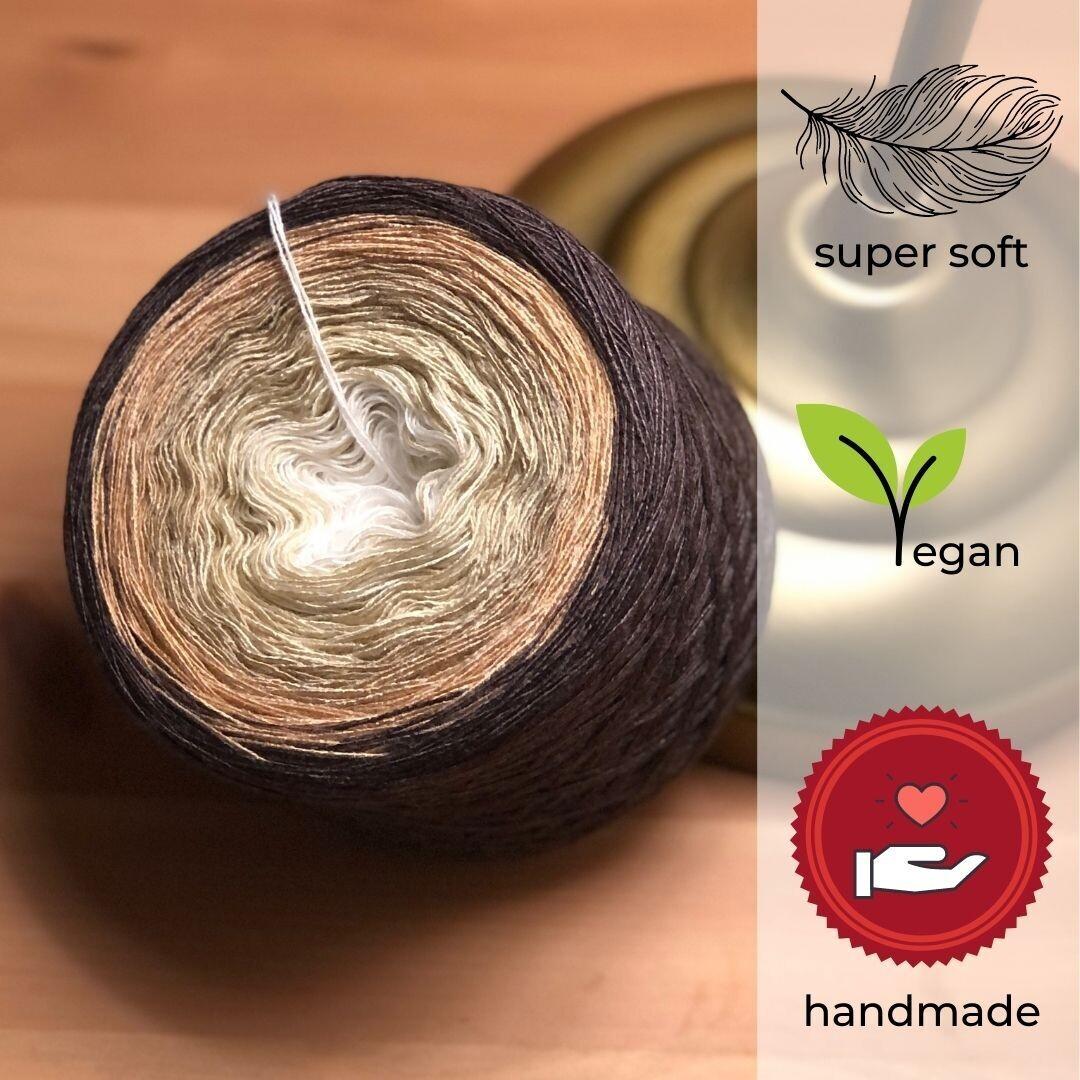 Woolpedia® Colors Chocolate Ice gradient yarncake (modal)