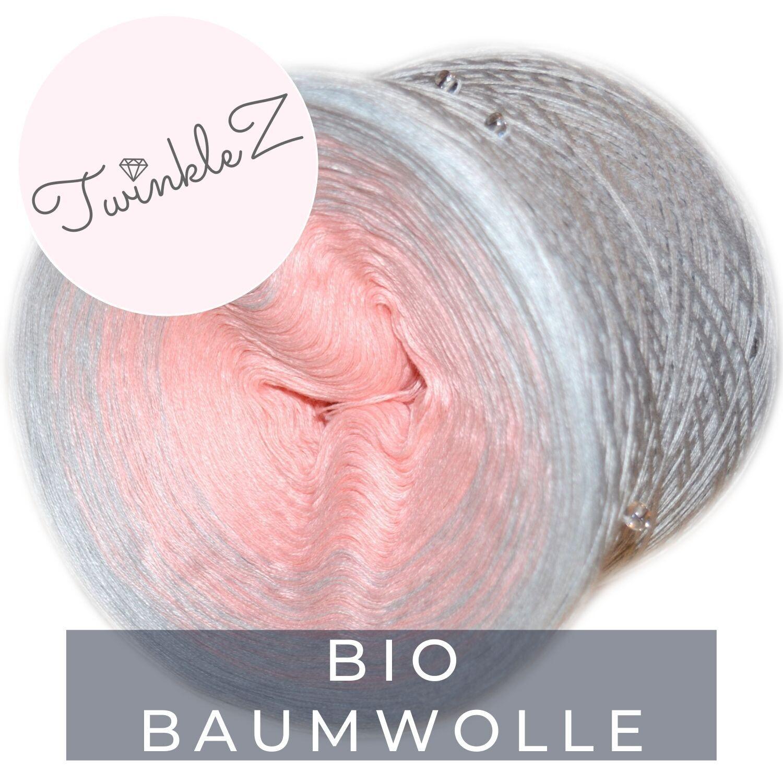 Woolpedia® TwinkleZ organic custom gradient beaded yarncake (pure cotton)