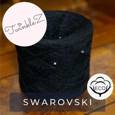Woolpedia® TwinkleZ Swarovski custom gradient beaded yarncake (organic cotton)