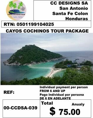 CAYOS COCHINOS TOUR COMBO PACK
