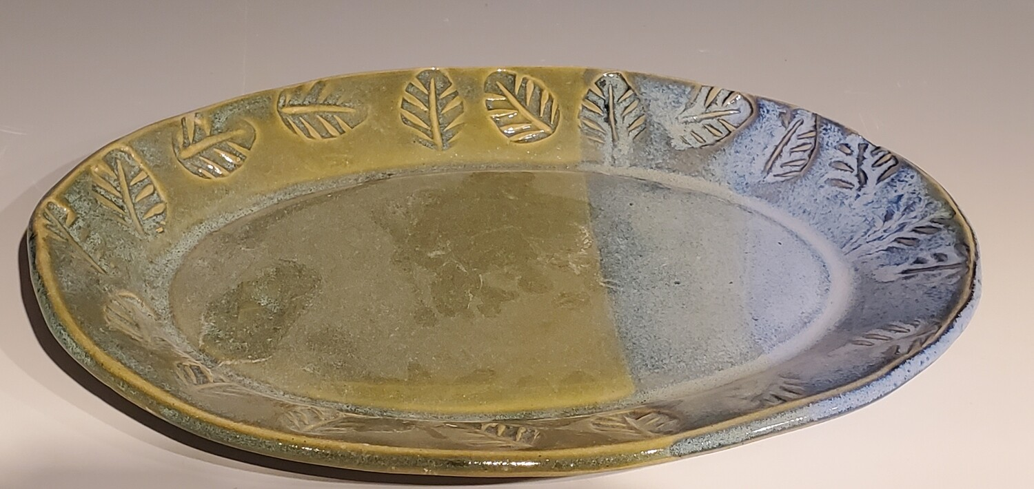 Small Blue and Golden Serving Tray