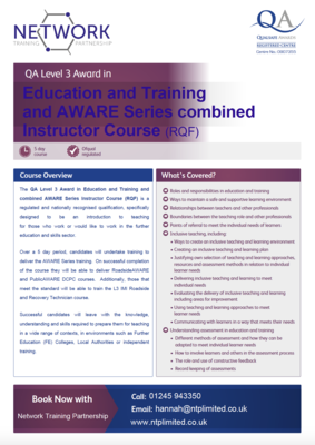 TrainAWARE Combined Consortium and L3 in Education and Training Course