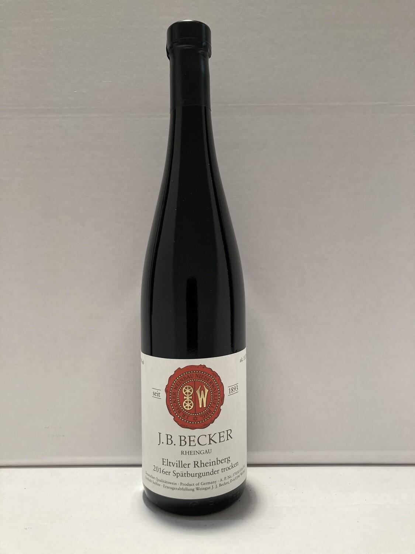 Pinot noir-2016 droog Eltviller Rheinberg JB Becker (Rheingau)