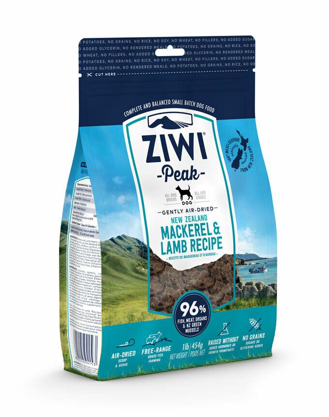 ZIWI Peak Dog Gently Air-Dried Makreel & Lam