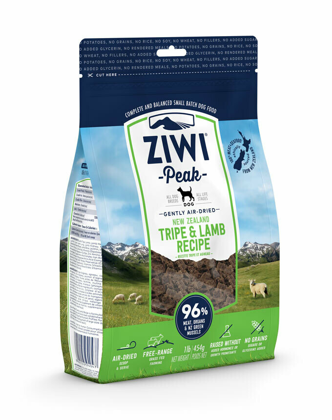 ZIWI Peak Dog Gently Air-Dried Pens & Lam