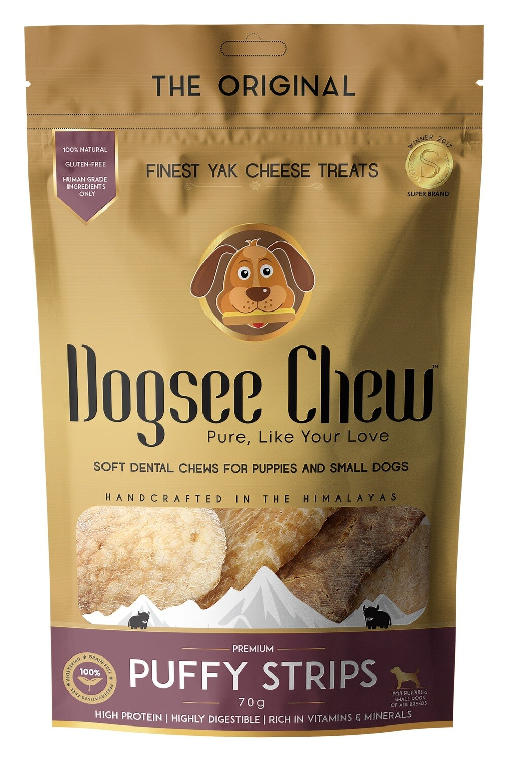 Dogsee Chew PUFFIE Strips 70 g.