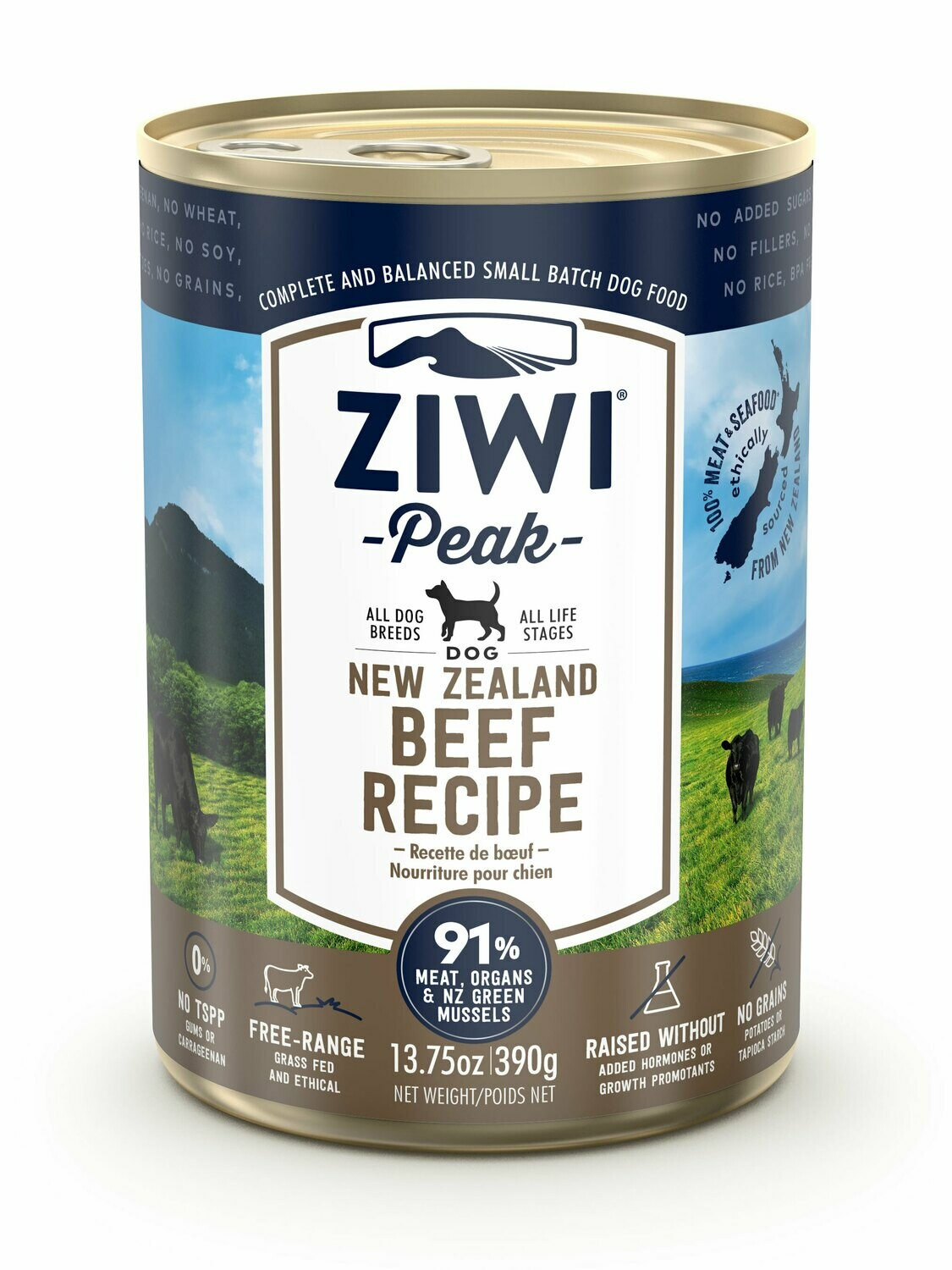 ZIWI Peak Dog Cans Beef 390 gr.