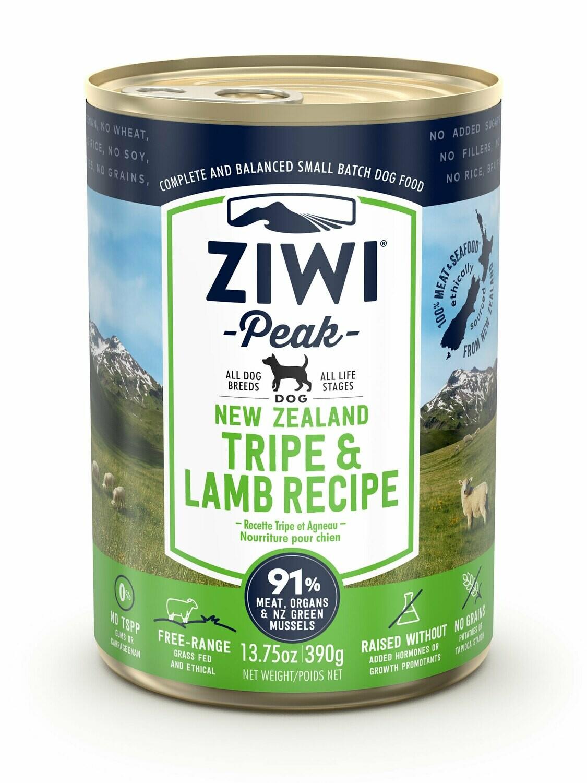 ZIWI Peak Dog Cans Pens en Lam 390 gr.