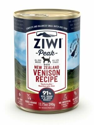 ZIWI Peak Dog Cans Hert 390 gr.