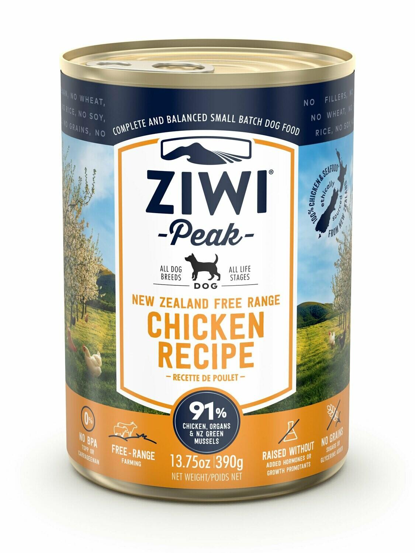 ZIWI Peak Dog Cans Kip 390 gr.