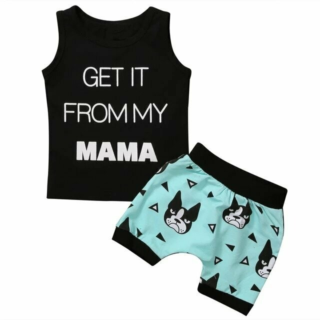 New Toddler Kids Baby Boys Summer T-shirt Tops+Shorts Pants Outfits Clothes Set