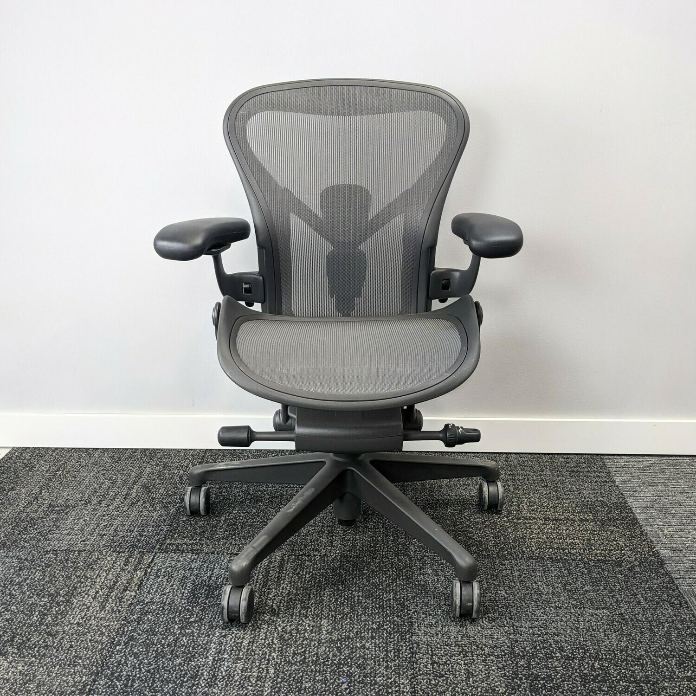 Herman Miller Aeron Task Chair Size A Gray
