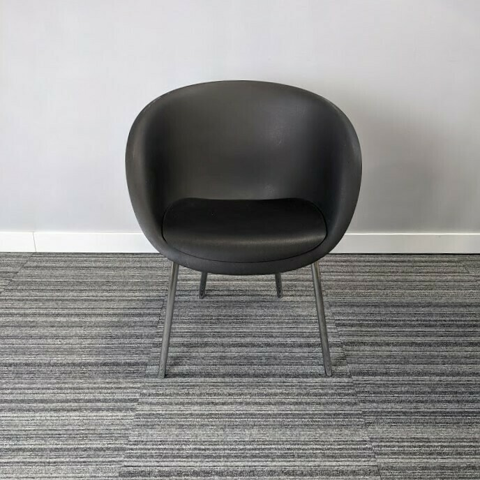Keilhauer Chair Charcoal Plastic