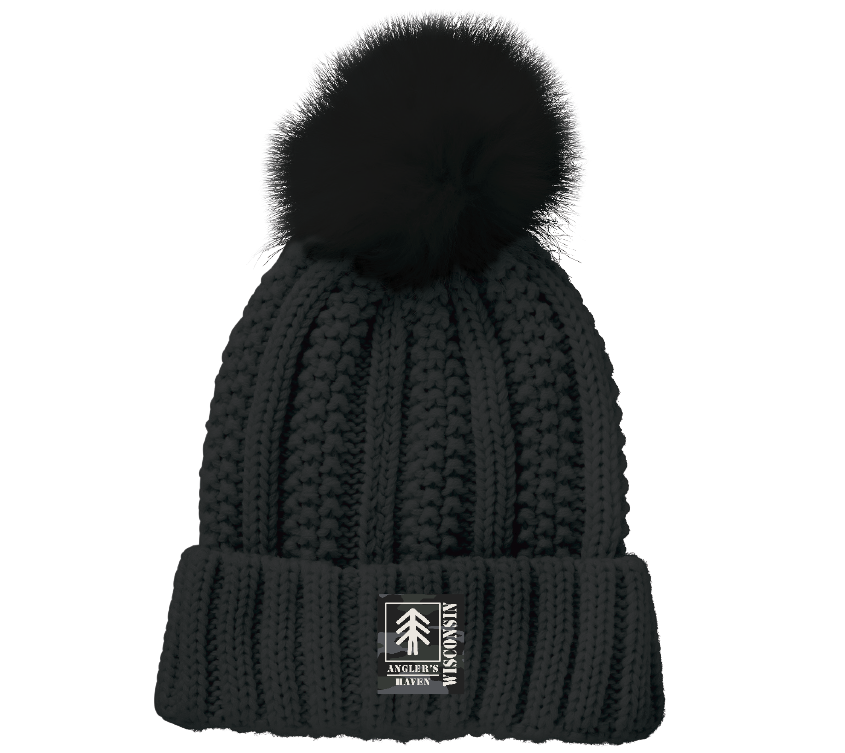 *Spring Sale* Lined Cable Pom Beanie
