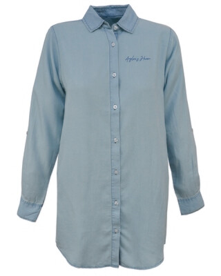 *Spring Sale* Light Blue Button Down Tunic