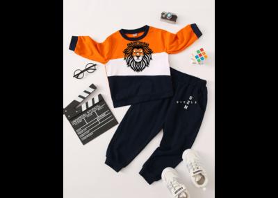 Orange and Dark Blue Toddler Set