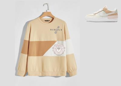 Men Color Block Drop Shoulder Sizzle Sweatshirt