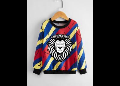 Toddler Boys Diagonal Stripes And Graphic Print Sweatshirt
