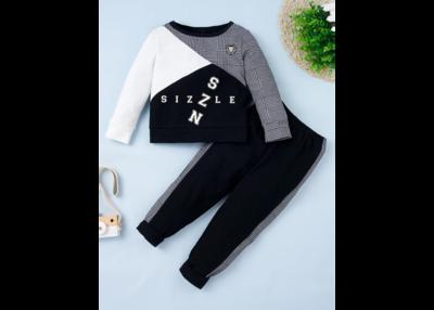 Toddler Boys Houndstooth Panel Sweatshirt & Sweatpants
