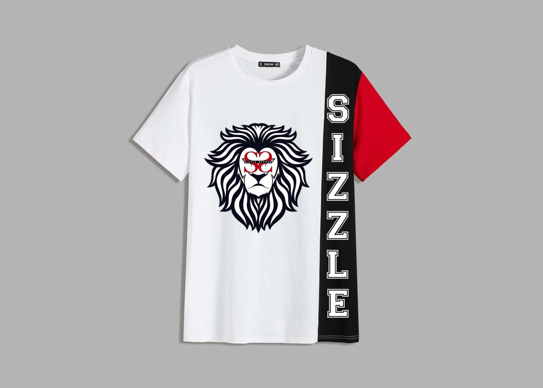 Sizzle Szn - Men Color Block Tee w/ Lion Face