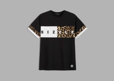 Men Leopard Print Colorblock Tee
