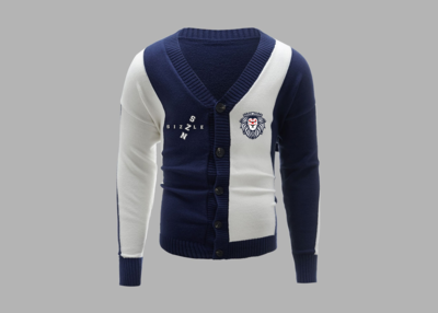 Men Two Tone Button Front Cardigan