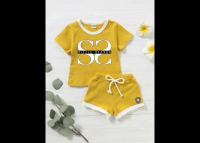 Toddler Girls Contrast Binding Rib-Knit Tee & Shorts