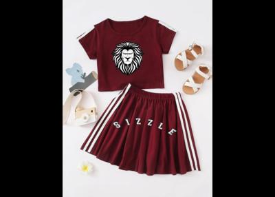 Toddler Girls Side Stripe Tee & Flared Skirt
