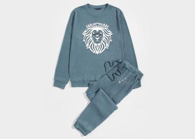 Men's Knit Pullover & Drawstring Sweatpants Set