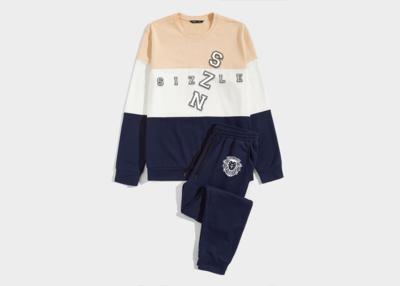 Men's Colorblock Pullover & Drawstring Joggers Set