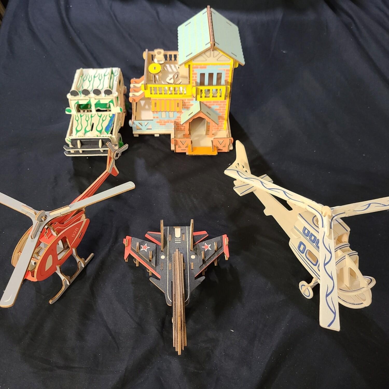 Assembled Model Toy Set(Planes, Cars, Houses, Etc)