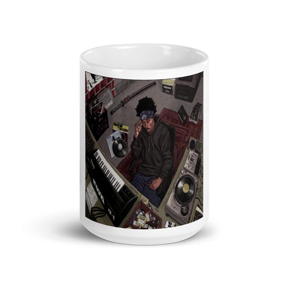 White Glossy Mugs(RZA @ Work)