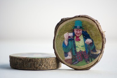 Wooden Photo Magnet