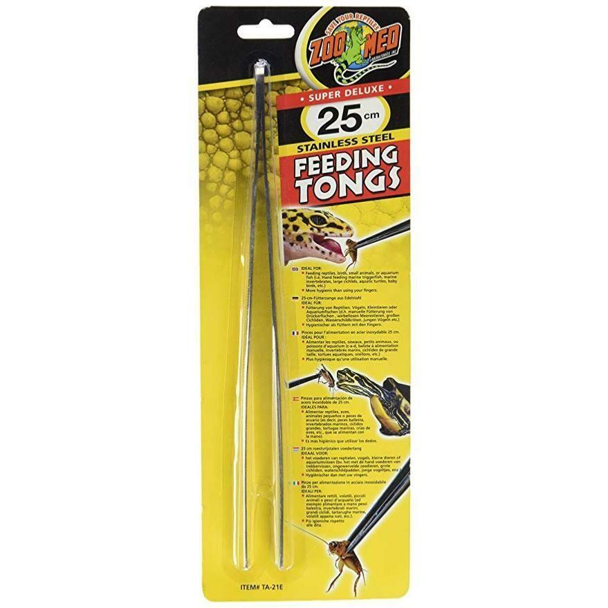 ZooMed - Stainless steel feeding tongs - 25cm