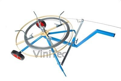 KME Draadhaspel met handvat en wielen