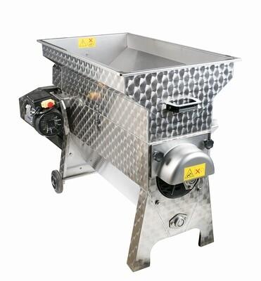 Ontsteler in inox / rvs met rubber kneuzers, 3 ton / h