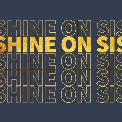 Shine on Sis card (navy)