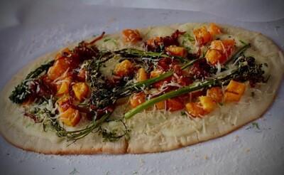 Broccolini+Carmelized Onion+Butternut Squash Flatbread
