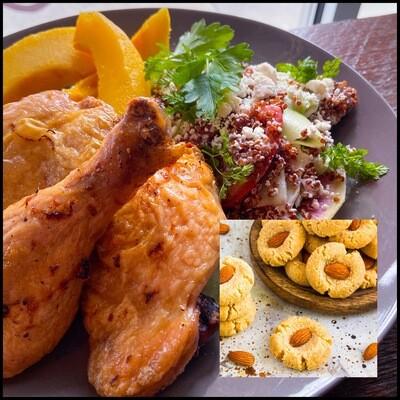 FEBRUARY 9-13 /  Roasted Marinated Chicken or Portobello Mushroom Steak