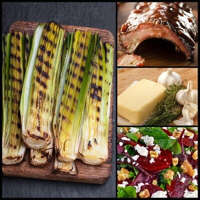 MAY 18-MAY 22 /  Smoked Pork Ribs OR Grilled Leeks with Pine Nuts and Parmesan
