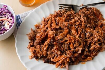 JUNE 8-JUNE 12 /  NC Style Pulled Pork OR Smoked Portobello Steaks with Onions
