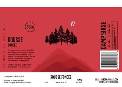 V7 Rousse foncée - Canette 473 ml