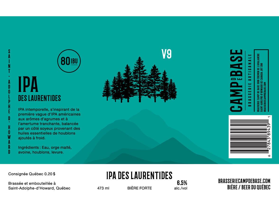 V9 IPA des Laurentides - Canette 473 ml