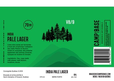 V8/9 India Pale Lager - Canette 473 ml