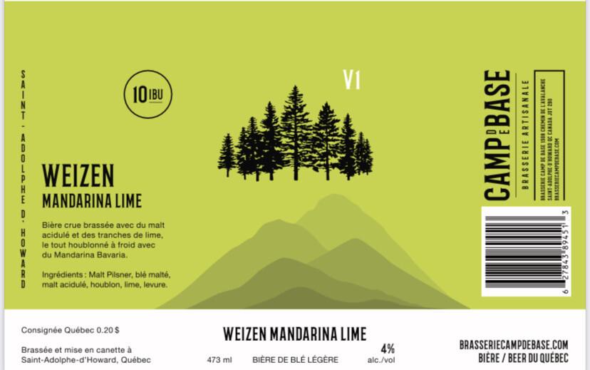 V1 Weizen Mandarina Lime - Cannette 473 ml