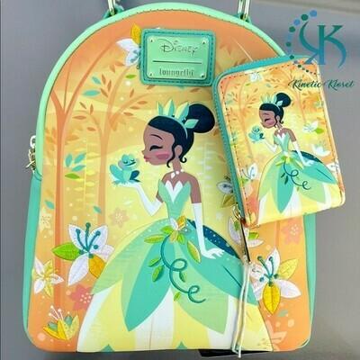 Disney Princess Tiana Backpack Set💚