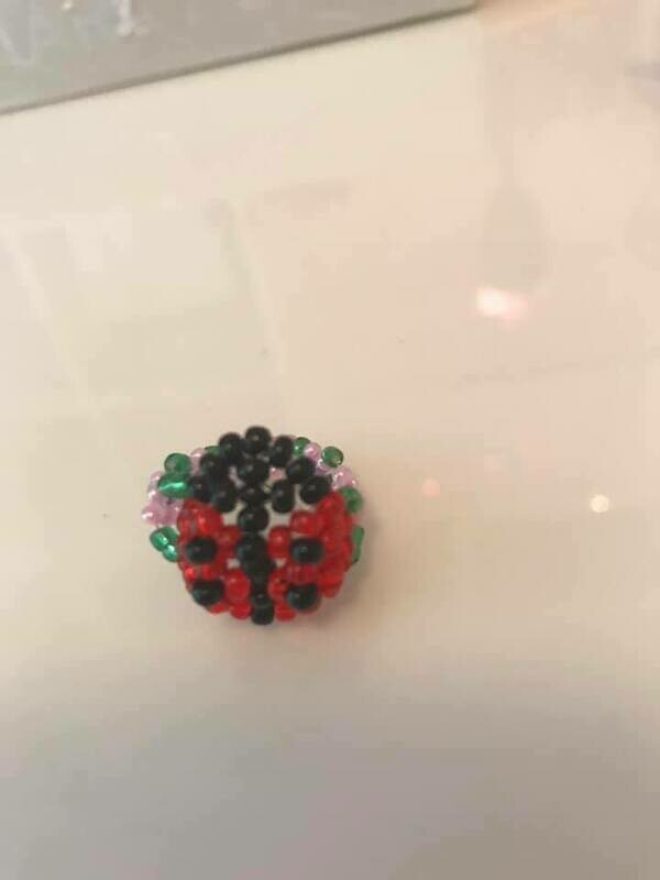 Coccinelle - Beaded Lady Bug Ring