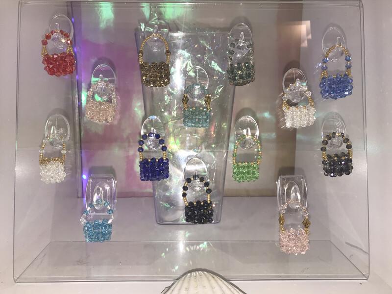 Swarovski Crystal Miniature Purse Charm